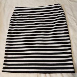 Black/white stripe pencil skirt POCKETS